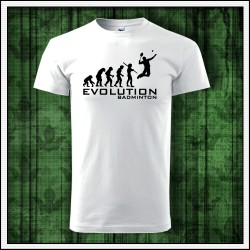 Vtipné unisex tričko Evolution Badminton