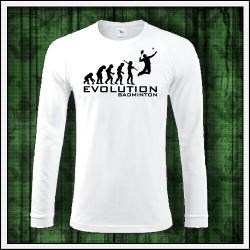 Vtipné pánske dlhorukávové tričko Evolution Badminton