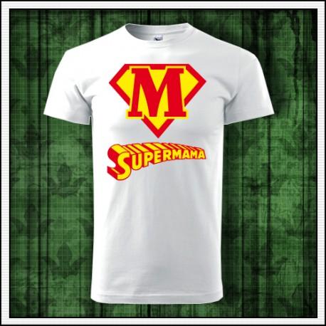Vtipné unisex tričko pre mamu Supermama
