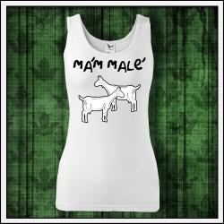 Vtipné dámske tielko Mám malé kozy, darček pre priateľku