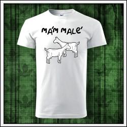 vtipný darček, vtipné unisex tričko Mám malé kozy