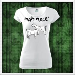 Vtipné dámske tričko Mám malé kozy, vtipny darcek