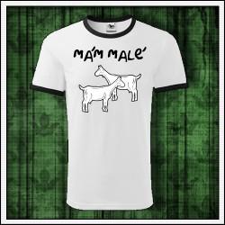 Vtipné unisex dvojfarebné tričko Mám malé kozy
