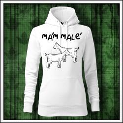 Vtipna damska jednofarebna mikina Mám malé kozy