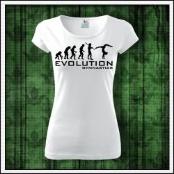 Vtipné dámske tričko pre gymnastku Evolution Gymnastics