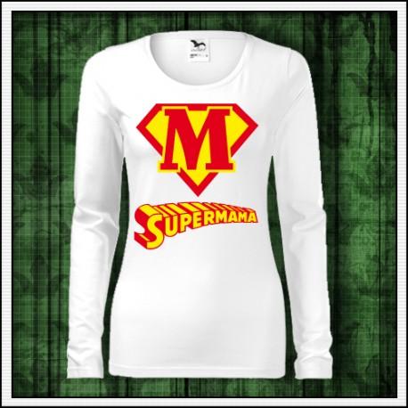 Vtipný darček tričko Supermama