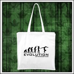 Vtipná taška Evolúcia gymnastiky, vianočný darček pre gymnastku