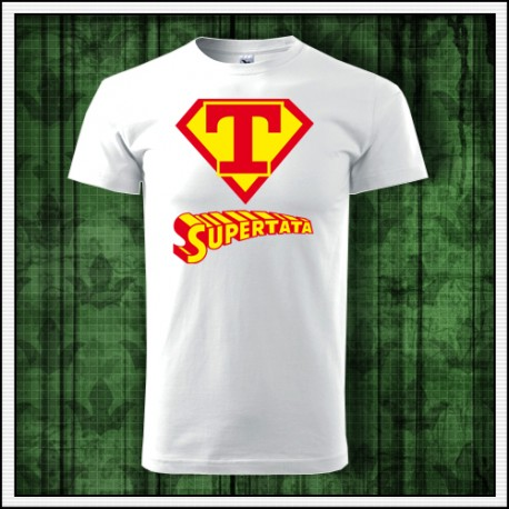 Vtipné unisex tričko pre tatina Supertata