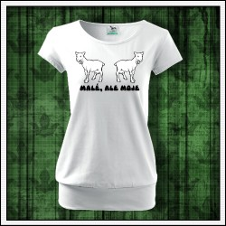 Vtipné dámske tričko s patentom Malé, ale moje