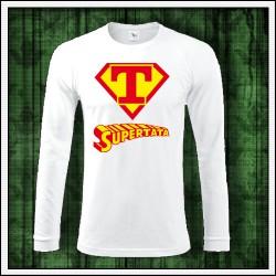 Vtipné pánske 180 g. dlhorukávové tričká Supertata