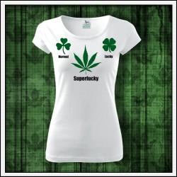 Vtipné dámske tričko Normal Lucky Superlucky