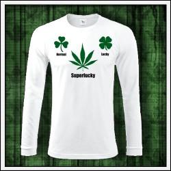 Vtipné pánske dlhorukávové tričko s motívom marihuany