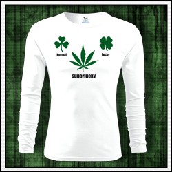 Vtipné pánske dlhorukávové tričko Normal Lucky Superlucky