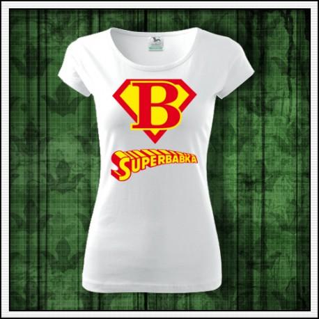Darček pre babku na narodeniny, tričko superbabka