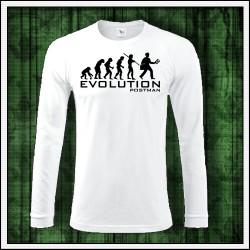 Vtipné pánske dlhorukávové tričko Evolúcia poštára