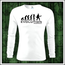 Vtipné pánske dlhorukávové poštárske tričko Evolution Postman