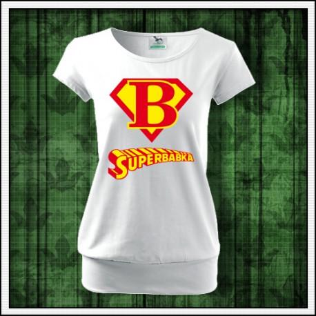 darček k narodeninám tričko superbabka