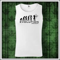 Vtipné pánske tielko Evolution Archery, darček pre lukostrelca