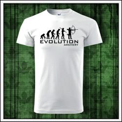 Vtipné unisex tričko Evolúcia lukostrelby