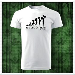 Vtipné unisex tričko Evolution Mother, darček na deň matiek