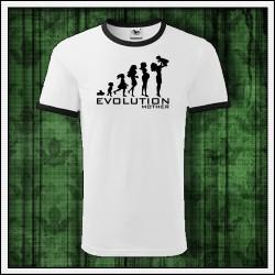 Vtipné unisex dvojfarebné tričko Evolution Mother, darček pre mamu na vianoce