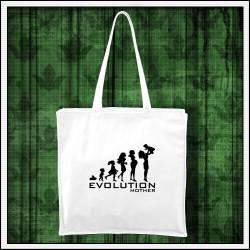 Vtipná taška Evolucia mamy, vianočný darček pre maminku
