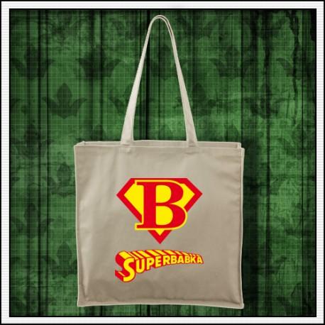Vtipná taška Superbabka darček pre babku k narodeninám