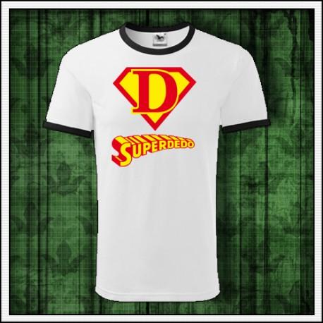 Vtipné unisex dvojfarebné tričko Superdedo