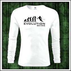 Vtipné pánske 160g. dlhorukávové tričká Evolution Skiing