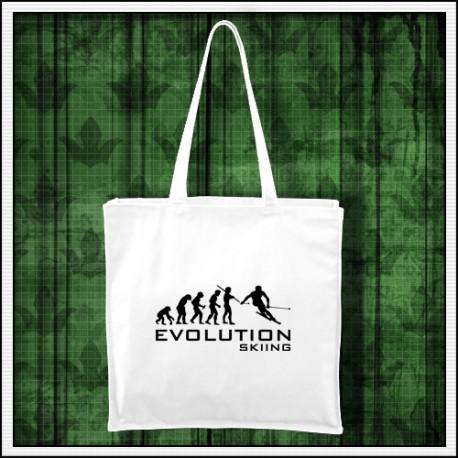 Vtipná taška Evolúcia lyžovania