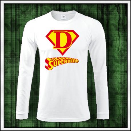 Vtipné pánske dlhorukávové tričko Superdedo darček pre deda