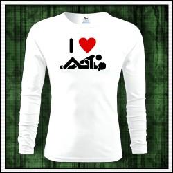 Vtipné pánske 160g. dlhorukávové tričká I Love Sex