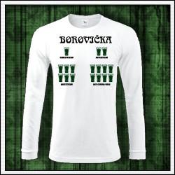 Vtipné pánske dlhorukávové tričko Borovička - anticoronavirus