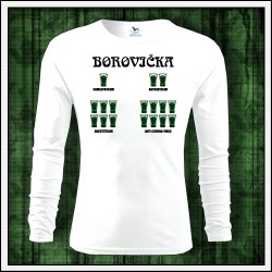 Vtipné pánske dlhorukávové tričko Borovička - Coronavirus