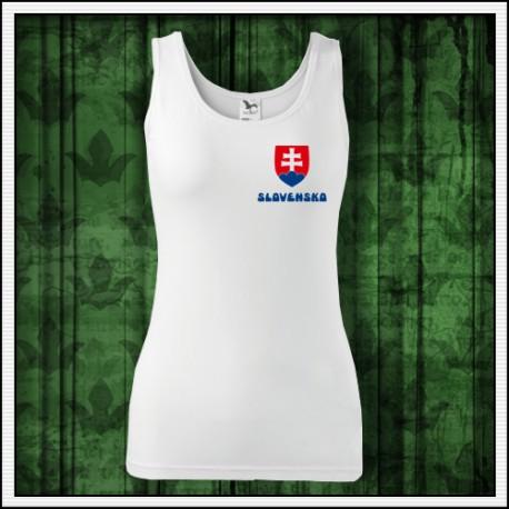 a08813af94030 Dámske tielko so slovenským znakom, oblečenie so slovenským motívom