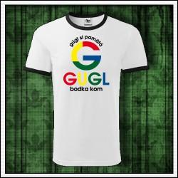 Vtipné unisex dvojfarebné tričká Gugl bodka kom