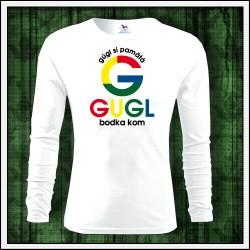 Vtipné pánske 160g. dlhorukávové tričká Gugl bodka kom