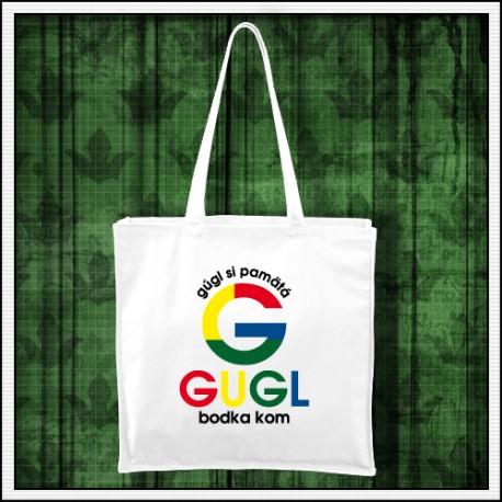 Vtipná taška Gugl si pamätá, google sa píše g u g l