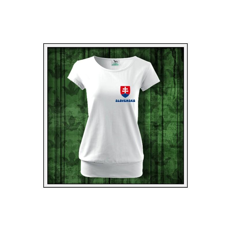 775ab4f955fb0 Dámske tričko Slovensko malý znak, tricko so slovenskym znakom ...