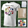 Vtipné tričko Človeče nehnevaj sa pre 6 hráčov - unisex