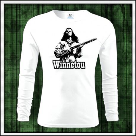 Detské dlhorukávové tričko Winnetou s puškou, retro darček pre deti