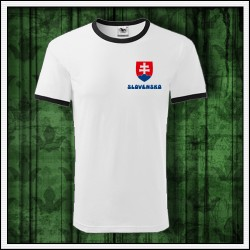 Unisex dvojfarebné tričká Slovensko suvenir