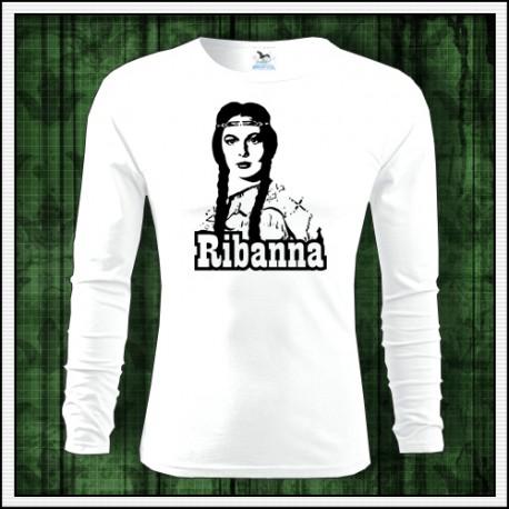Detské dlhorukávové tričko Ribanna vhodné ako retro darček