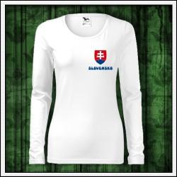 Dámske dlhorukávové tričko so slovenským motívom