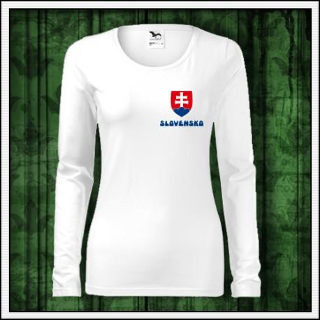 ce77a4e5f2b58 Slovenské dámske dlhorukávové tričko so slovenským motívom