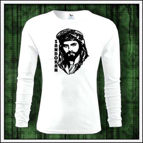 Retro pánske dlhorukávové tričko Sandokan