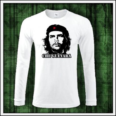 Pánske dlhorukávové biele tričko Che Guevara
