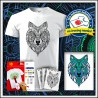 Vyfarbovacie antistresové unisex tričko Vlk
