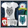 Vyfarbovacie antistresové dámske tričko Vlk