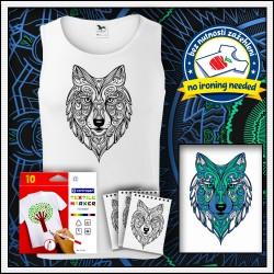 Vyfarbovacie antistresové pánske tielko Vlk, darček na narodeniny